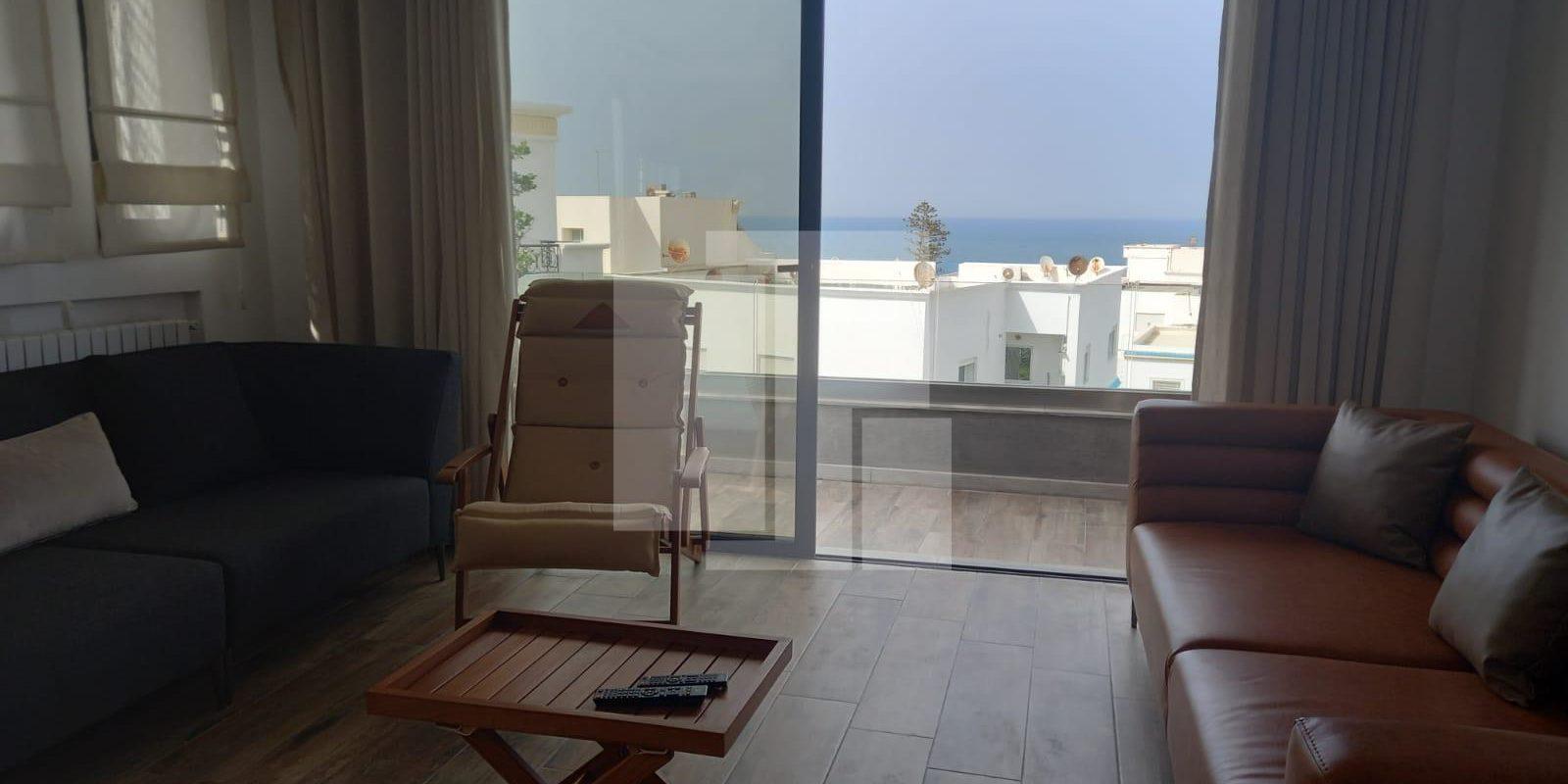 Duplex meublé avec vue mer, Marsa corniche